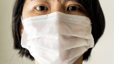 China woman wear medical mask protection from coronavirus